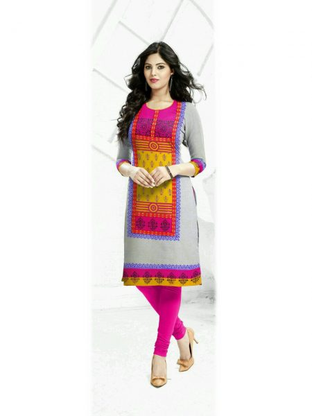 MADHU SOUTH COTTON HANDLOOM DESIGNER KURTI WITH BLOCK PRINT
