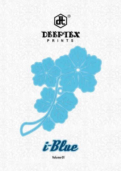 DEEPTEX I BLUE COTTON PRINT UNSTICHED MATERIAL WHOLESALE