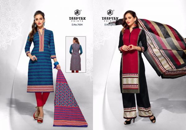 CHIEF GUEST VOL 7 UNSTICHED COTTON PRINT DRESS MATERIAL WHOLESALER
