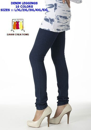 DENIM STRETCHABLE JEGGINGS – L TO 5XL SIZE WHOLESALE