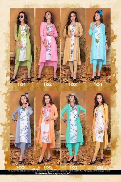 G DESHI MUSLIN TOP WITH SRUG RAYON KURTA MANUFACTURER WHOLESALER