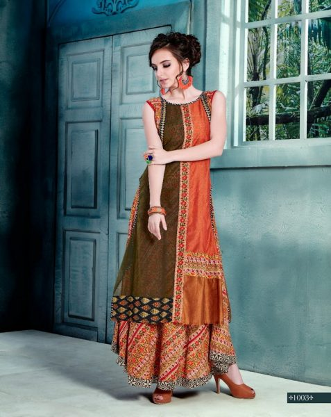 PARTY WEAR DESIGNER GEORGETTE SILK KURTI GLAMOUR