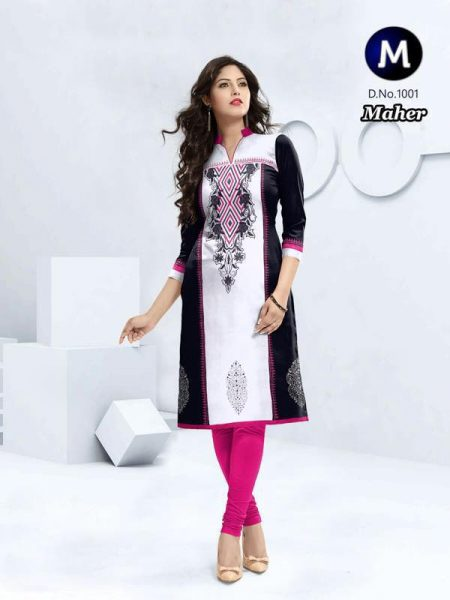 MAHER SOUTH HANDLOOM COTTON DESIGNER KURTI WITH EMB WORK MANUFACTURER