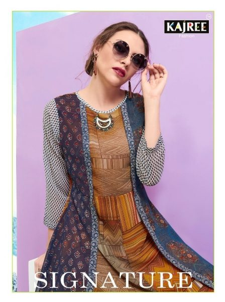 SIGNATURE GEORGETTE PARTY WEAR KURTIS COLLECTION WHOLESALE DEALER