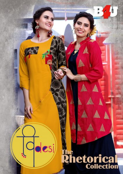 PARTY WEAR DESIGNER one pcs KURTI B4U VDESI
