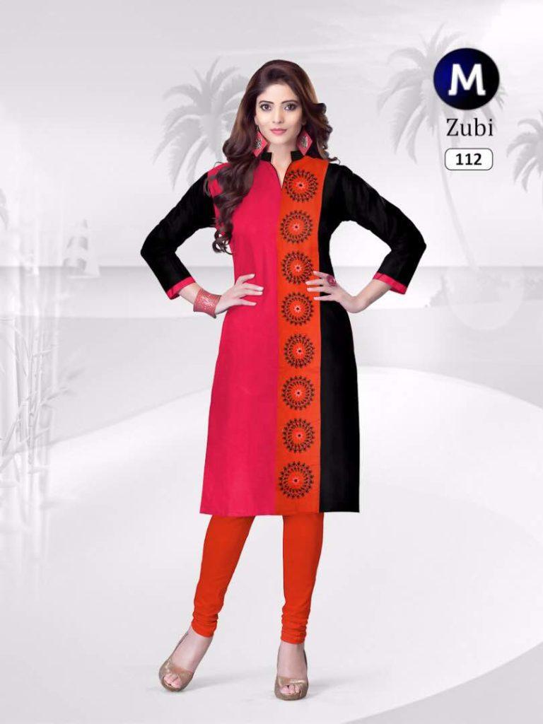 Zubi Designer Rayon Cotton Kurtis Manufacturer