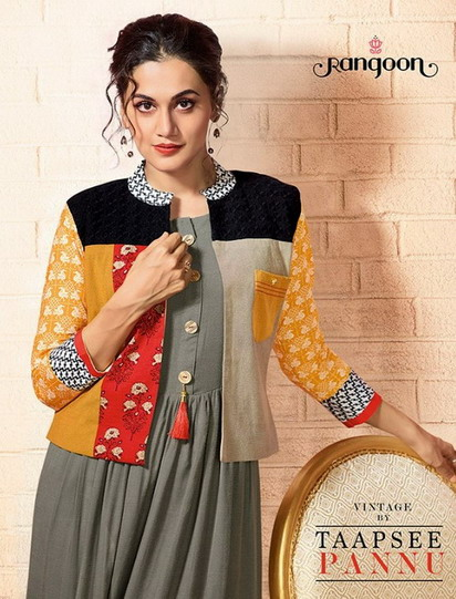 RANGOON VINTAGE BY TAAPSEE PANNU RAYON KOTI WITH WESTERN GOWN COLLECTION WHOLESALE