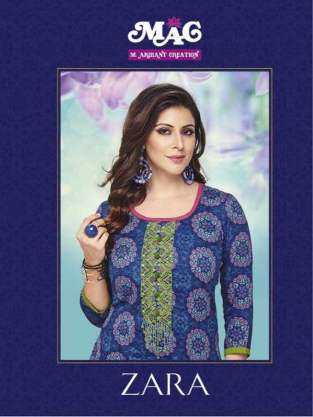 EXCLUSIVE COTTON PRINT KARACHI SALWARSUITS WITH EMBROIDERY WORK- ZARA