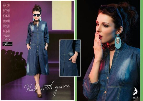 FERRARI PURE DENIM KURTIS CATALOGUE WHOLESALER