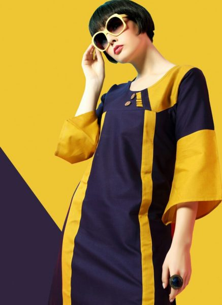 ELEGANT OFFICE WEAR COTTON KURTI MANUFACTURER – SAHEERA @ RS 325