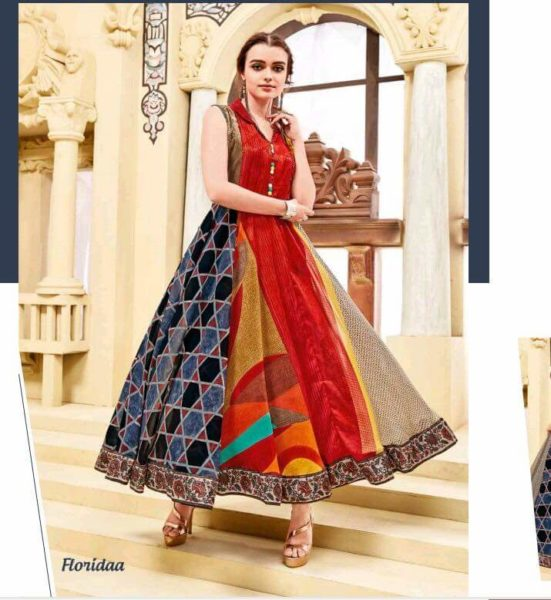 DESIGNER GEORGETTE ANARKALI LONG KURTI PREMIUM VOL 2