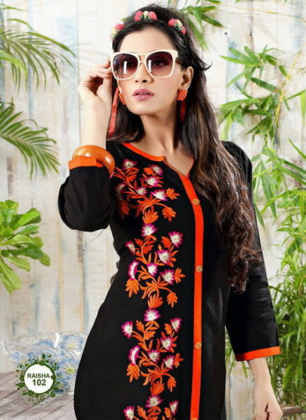 COTTON EMB WORK KURTIS MANUFACRURER – RAISHA 1 @ RS 399