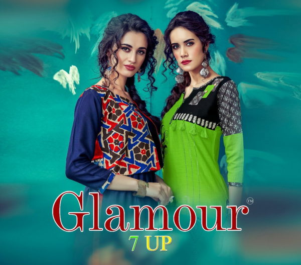 GLAMOUR 7 UP RAYON LONG & STRAIGHT KURTIS MANUFACTURER