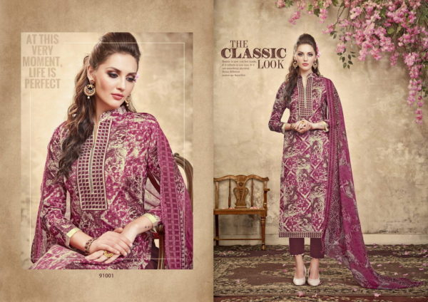RIHANA KARANCHI PRINT UNSTICHED SALWAR SUITS DRESS MATERIALS