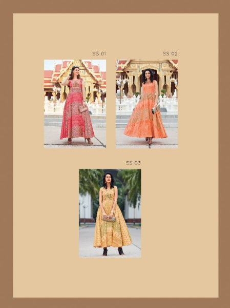 SATIN SUMMER LONG GOWN SUMMER SPECIAL ANJALI WHOLESALER