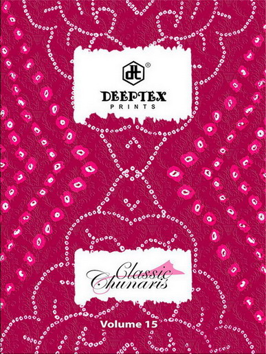 DEEPTEX CLASSIC CHUNARIA VOL 15 COTTON PRINTED DRESS MATERIAL WHOLESALE