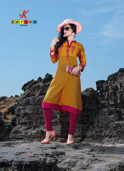 SUMMER COOL COTTON PRINTED A LINE KURTI – KALGI