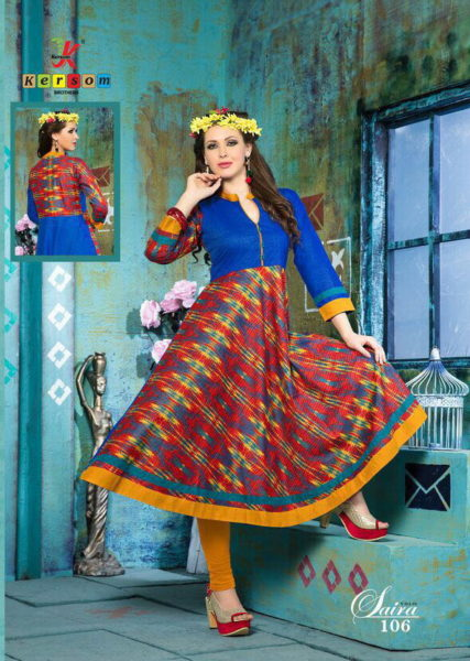 ANARKALI COTTON KURTIS MANUFACTURER – SAIRA VOL 1 @ RS 525