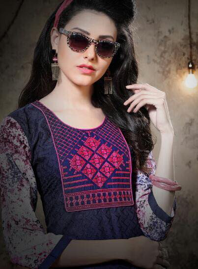 DESIGNER COTTON KURTIS WITH FRONT & BACK WORK – NEXA @ RS 425
