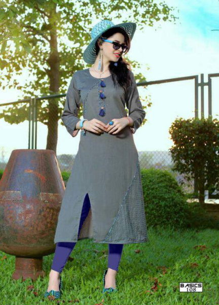 ELEGANT COTTON KURTI FOR FORMAL WEAR – BASICS @ RS 399 KURTI MANUFACTURER