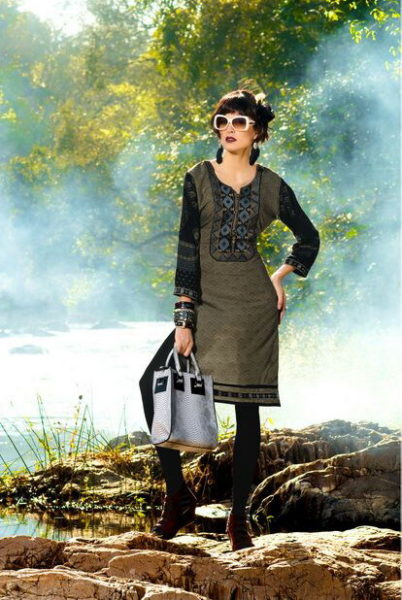 ANAMIKA – COTTON KURTI WITH EMB WORK MANUFACTURER @ RS 400
