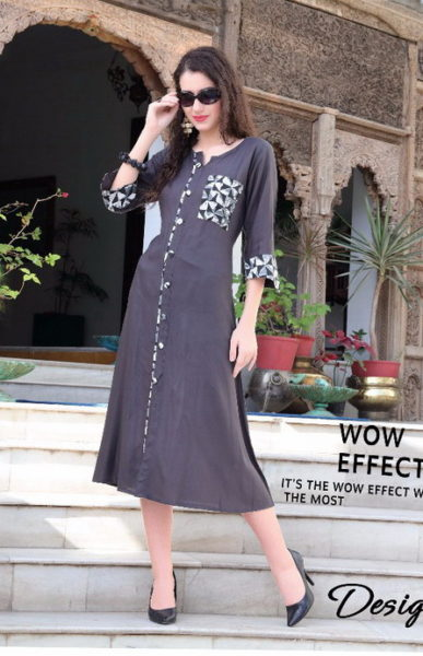 DENIM KURTI WITH 3/4TH SLEEVES – DESIRE