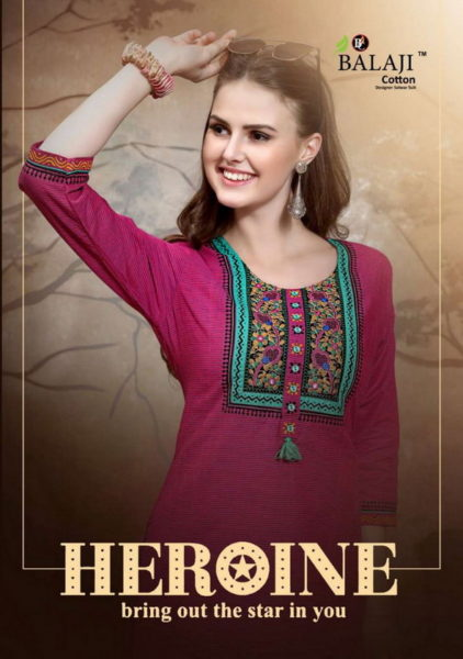 FORMAL APLIC WORK COTTON KURTIS – HEROINE WHOLESALER