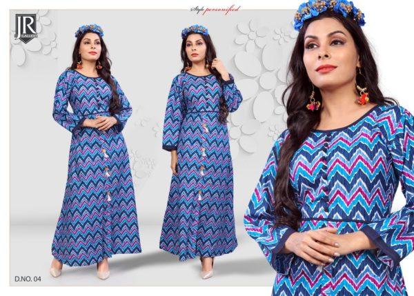 COTTON GOWN JAIPURI PRINT – BLOSSOM KURTIS @ RS 450 WHOLESALER