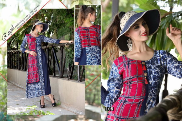 DESIGNER RAYON KURTIS WITH EMBROIDERY WORK – KHUSHNUMA @ RS 470