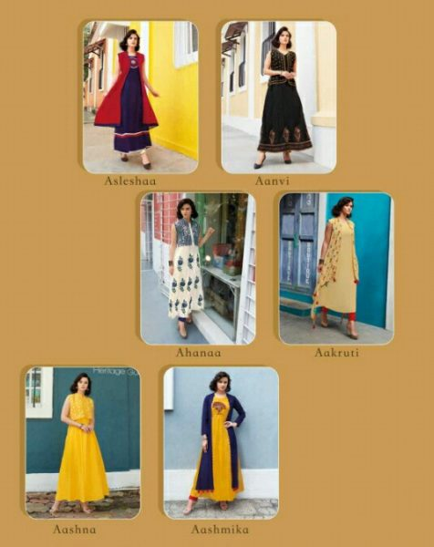KITKAT- DESIGNER GOWN COTTON KURTA WITH EMB WORK