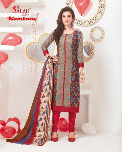 KUMKUM VOL 15 COTTON PRINT UNSTICHED DRESS MATERIALS