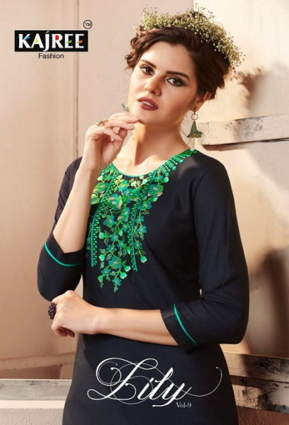 LILY 9 FORMAL RAYON KURTIS WITH EMBROIDERY WORK WHOLESALER