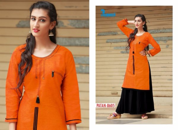 SOUTH COTTON KURTIS WITH 3/4TH SLEEVES – PATAN