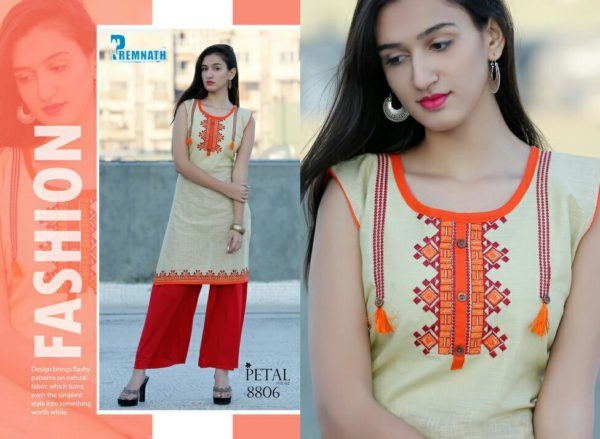 FORMAL COTTON KURTIS WITH EMBROIDERY WORK – PETAL 2