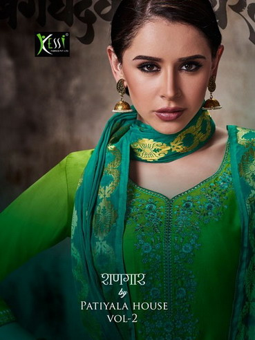 SHANGAR BY PATIALA HOUSE VOL 2 JAM SILK PANJABI SUITS WHOLESALE