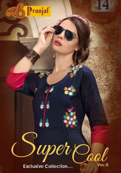 PRANJUL SUPER COOL 5 ETHENIC COTTON KURTI WITH WORK