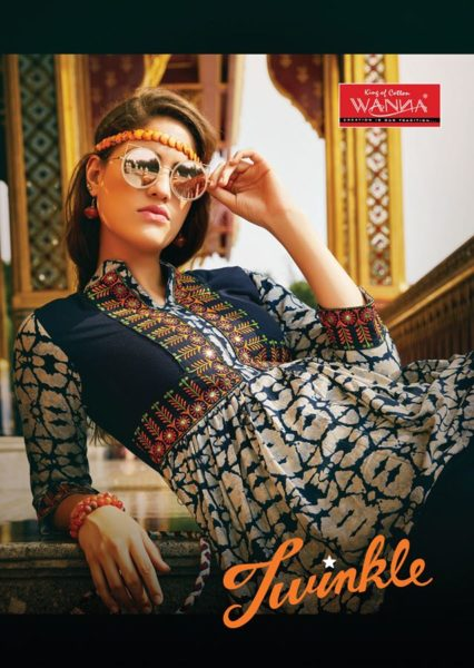 CUT STYLE LONG RAYON KURTA WITH EMBROIDERY WORK – TWINKLE