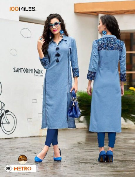 100 MILES METRO COTTON KURTIS WHOLESALE FACTORY RATES @ RS 395