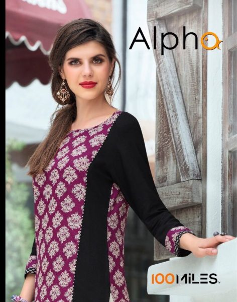 100 MILES ALPHA COTTON PRINTED KURTIS WHOLESALE SUPPLIER @ RS 349