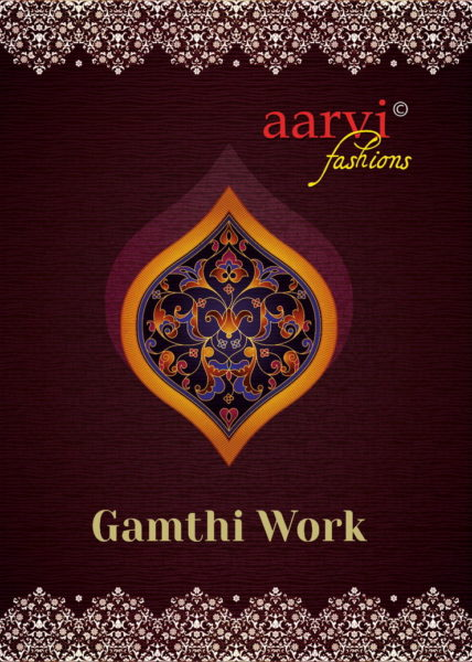 AARVI GAMTHI WORK SALWARSUITS DRESS MATERIALS UNSTICHED WHOLESALE SUPPLIER