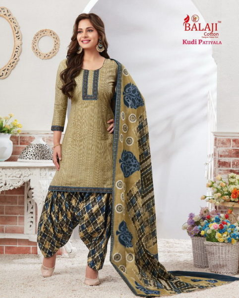 BALAJI KUDI PATIYALA VOL 1 UNSTICHED PATIYALA DRESS MATERIALS WHOLESALE @ RS 320 printed cotton salwarsuits wholesaler