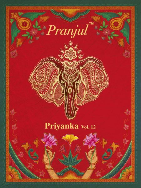 PRANJUL PRIYANKA VOL 12 COTTON DRESS MATERIAL SUPPLIER LOWEST RATE IN INDIA