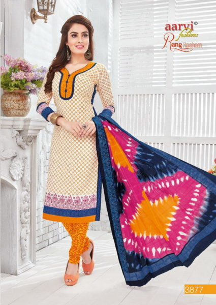 RANG RESHAM FROM AARVI HEAVY QUALITY COTTON PRINT UNSTICHED MATERIAL WHOLESALE