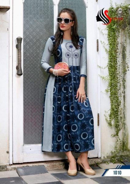 FIZA VOL 1 DESIGNER RAYON PRINTED KURTIS WHOLESALER MANUFACTURER kurtas online india indian kurtis online shopping