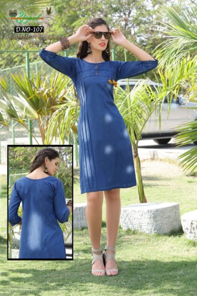 WESTERN LOOK DENIM KURTIS SUMMER BREEZE WHOLESALER MANUFACTURER