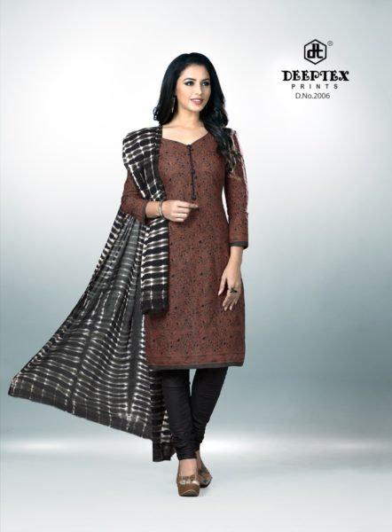 DEEPTEX TRADITION VOL 2 COTTON PRINTED UNSTICHED SALWARSUITS DRESS MATERIALS WHOLESALE