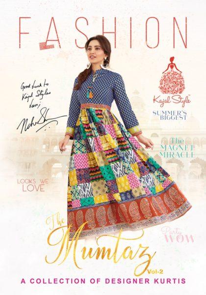 Kajal Style Mumtaz Vol 2 Designer Flare Kurtis Wholesaler