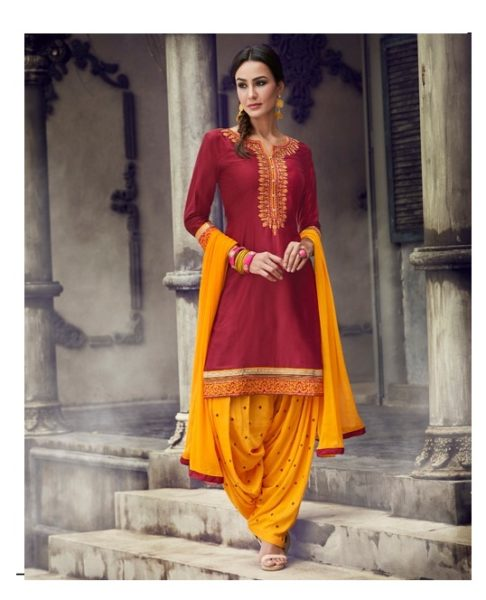 READYMADE THE-FASHION-OF-PATIALA-VOL-19-Cotton-satin-fabric-embroidery-work-ready-made-patiala-salwar-kameez