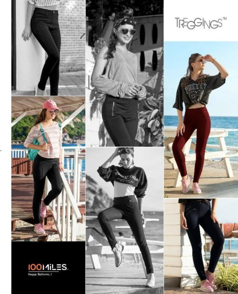 100 MILES TREGGINGS STRETCHABLE BOTTOMS BUY BOTTOMS COLLECTION WHOLESALE PRICE @ RS 295