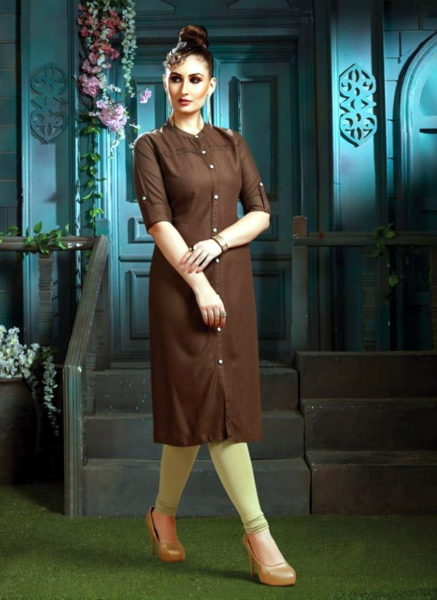 FORMAL PLAIN RAYON OFFICE WEAR KURTIS SAAWARIYA MANUFACTURER @ RS 319
